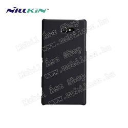 SONY Xperia M2 DUAL (D2302)NILLKIN műanyag védő tok  hátlap - képernyővédő fólia - FEKETE - SONY Xperia M2 (D2305)  SONY Xperia M2 DUAL (D2302)