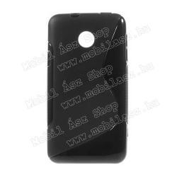 HUAWEI Ascend Y330EXKLUZÍV telefonvédő gumi  szilikon tok (FÉNYESMATT) - FEKETE - HUAWEI Ascend Y330