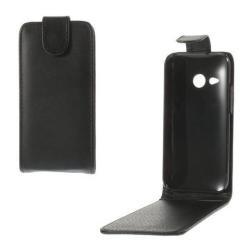 HTC One Mini 2FLIP tok - lefelé nyíló, rejtett mágneses záródás - FEKETE - HTC One Mini 2