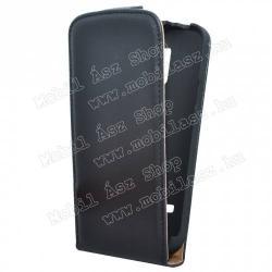 SAMSUNG Galaxy S5 mini (SM-G800)FLIP tok - lefelé nyíló, rejtett mágneses záródás - FEKETE - SAMSUNG SM-G800 Galaxy S5 mini