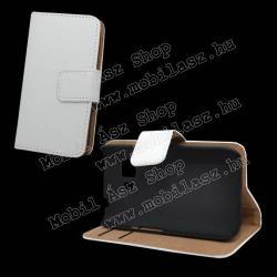 SAMSUNG Galaxy Young 2 Duos (SM-G130)Notesz  flip tok - oldalra nyíló, rejtett mágneses, álló, asztali tartó funkció, bankkártya tartó - FEHÉR - SAMSUNG SM-G130 Galaxy Young 2