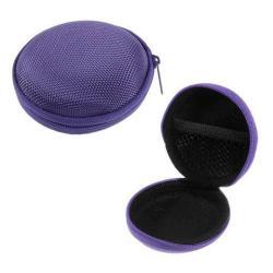 Fülhallgató / headset / james bond textil tok - cipzáras - 80 x 30 mm - LILA