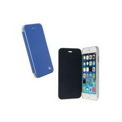 APPLE iPhone 6sKRUSELL FlipCover BODEN műanyag védő tok  átlátszó hátlap - oldalra nyíló bőr flip cover - KÉK - 75976 - APPLE iPhone 6 - GYÁRI