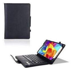 Flip / mappa tok álló, bõr - BLUETOOTH billentyûzet, asztali tartó, QWERTY, angol nyelvû! - FEKETE - IS11-STS10 - SAMSUNG SM-T700 Galaxy Tab S 8.4 WIFI / SAMSUNG SM-T705 Galaxy Tab S 8.4 LTE