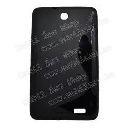 Szilikon védő tok  hátlap - FÉNYES  MATT - FEKETE - ALCATEL One Touch POP 8 OT-P320  ALCATEL One Touch POP 8 OT-P321