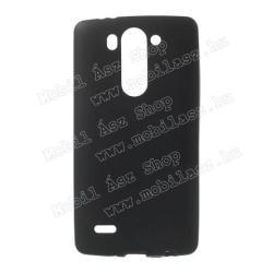 LG G3 SSzilikon védő tok  hátlap - FLEXI - FEKETE - LG G3 S