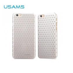 USAMS STARRY TWINKLE műanyag védő tok / hátlap - lyukacsos csillagmintás - EZÜST - APPLE iPhone 6