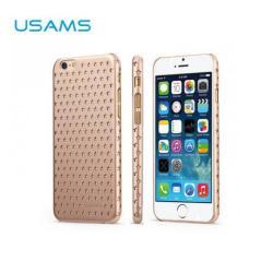 USAMS STARRY TWINKLE műanyag védő tok / hátlap - lyukacsos csillagmintás - ARANY - APPLE iPhone 6