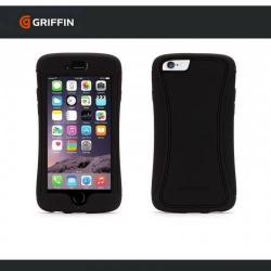 GRIFFIN SURVIVOR SLIM szilikon védő tok / hátlap - műanyag betétes, képernyővédő fólia - GB40557 - FEKETE - APPLE iPhone 6 Plus - GYÁRI