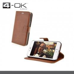 APPLE iPhone 6s Plus4-OK notesz  mappa tok - oldalra nyíló flip cover, mágneses záródás, asztali tartó funkciós - FWI6PM - BARNA - APPLE iPhone 6 Plus - GYÁRI