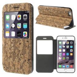 APPLE iPhone 6s PlusMűanyag védő tok  hátlap - PARAFA MINTÁS - oldalra nyíló S-View Cover flip, asztali tartó funkciós - BARNA - APPLE iPhone 6 Plus