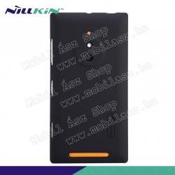 NOKIA Lumia 830NILLKIN műanyag védő tok  hátlap - képernyővédő fólia - FEKETE - NOKIA Lumia 830