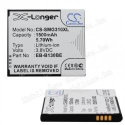 Akku 1500 mAh LI-ION - SAMSUNG EB-B130BE kompatibilis - SAMSUNG SM-G310 GALAXY ACE STYLE