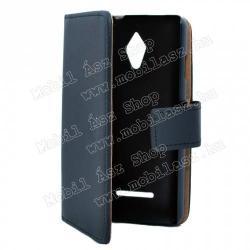 Vodafone Smart 4 turboNotesz tok flip tok - asztali tartó funkciós, oldalra nyíló, rejtett mágneses záródás, bankkártya tartó zsebekkel - FEKETE - VODAFONE Smart 4 turbo