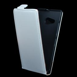 NOKIA Lumia 730 DUAL SIMSLIM FLIP tok - lefelé nyíló, rejtett mágneses záródás - FEHÉR - NOKIA Lumia 730  NOKIA Lumia 735