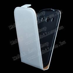 SAMSUNG Galaxy Ace 4 LTE (SM-G357FZ)SLIM FLIP tok - lefelé nyíló, rejtett mágneses záródás - FEHÉR - SAMSUNG SM-G357FZ Galaxy Ace 4 LTE  SAMSUNG SM-G357FZ Galaxy Ace Style LTE