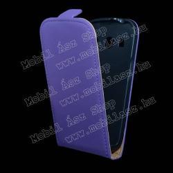 SAMSUNG Galaxy Ace 4 LTE (SM-G357FZ)SLIM FLIP tok - lefelé nyíló, rejtett mágneses záródás - LILA - SAMSUNG SM-G357FZ Galaxy Ace 4 LTE  SAMSUNG SM-G357FZ Galaxy Ace Style LTE