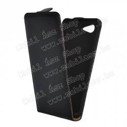 SONY Xperia E3 (D2203)SLIM FLIP tok - lefelé nyíló, rejtett mágneses záródás - FEKETE - SONY Xperia E3 (D2203)