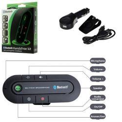 BLUETOOTH kihangosító szett - napellenzõre rögzíthetõ, hordozható, Bluetooth 3.0, SUPERTOOTH BUDDY-hoz hasonló - KÉK