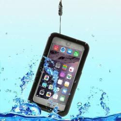 Vízhatlan / vízálló tok - nyakba akasztható, 6m mélységig vízálló - FEKETE / ÁTLÁTSZÓ - APPLE iPhone 6 Plus