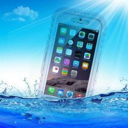 Vízhatlan / vízálló tok - nyakba akasztható, 6m mélységig vízálló - FEHÉR / ÁTLÁTSZÓ - APPLE iPhone 6