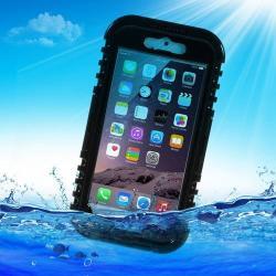 Vízhatlan / vízálló tok - nyakba akasztható, 6m mélységig vízálló - FEKETE / ÁTLÁTSZÓ - APPLE iPhone 6