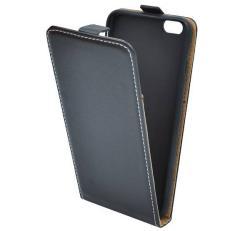 APPLE iPhone 6s PlusSLIM FLIP tok - lefelé nyíló, rejtett mágneses záródás - FEKETE - APPLE iPhone 6 Plus