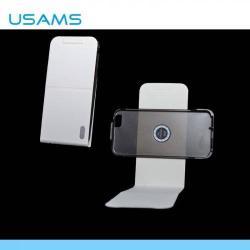 USAMS DANCING FLIP tok - lefelé nyíló, rejtett mágneses, 360°-ban forgatható, asztali tartó funkció - IP6XM02 - FEHÉR - APPLE iPhone 6 - GYÁRI