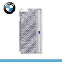 APPLE iPhone 6s PlusBMW SIGNATURE alumínium védő tok  karbon mintás hátlap - EZÜST - BMHCP6LMES - APPLE iPhone 6 Plus - GYÁRI
