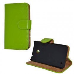NOKIA Lumia 630 DUAL SIMNotesz tok  flip tok - asztali tartó funkciós, oldalra nyíló, rejtett mágneses záródás, bankkártya tartó zsebekkel - ZÖLD - NOKIA Lumia 630  NOKIA Lumia 635