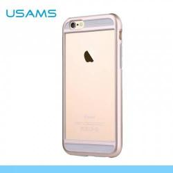 APPLE iPhone 6sUSAMS BESCON műanyag védő keret - BUMPER - szilikon betétes - ARANY - APPLE iPhone 6 - GYÁRI