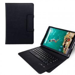 SEENDA tok álló, bõr - FLIP, BLUETOOTH 3.0 kivehetõ billentyûzet, asztali tartó, QWERTY, angol nyelvû - IS11-GG309CFLJKW - FEKETE - HTC Nexus 9 - GYÁRI