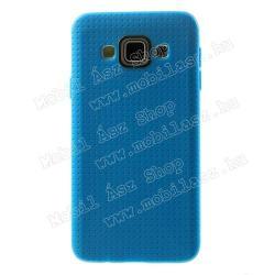 SAMSUNG Galaxy A3 DUOS (SM-A300F/DS)Szilikon védő tok  hátlap - lyukacsos mintás - KÉK - SAMSUNG SM-A300F Galaxy A3