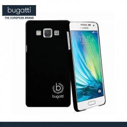 SAMSUNG Galaxy A5 DUOS (SM-A500F/DS)BUGATTI ClipOnCover műanyag védő tok  hátlap - 08721 - FEKETE - SAMSUNG SM-A500F Galaxy A5 - GYÁRI