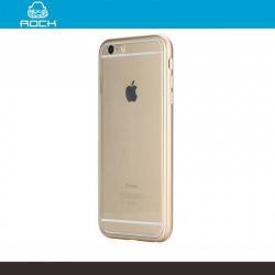 APPLE iPhone 6s PlusROCK alumínium védő keret - szilikon hátlap - ÁTLÁTSZÓ  ARANY - APPLE iPhone 6 Plus - GYÁRI
