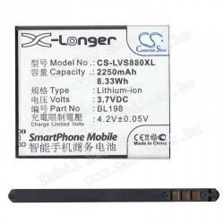 Lenovo A859Akku 2250 mAh LI-ION - BL198 kompatibilis - Lenovo A859