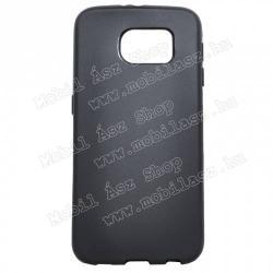 SAMSUNG Galaxy S6 (SM-G920)Szilikon védő tok  hátlap - FLEXI - FEKETE - SAMSUNG SM-G920 Galaxy S6