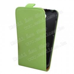 SONY Xperia E4 DualFlip tok - lefelé nyíló, rejtett mágneses záródás - ZÖLD - SONY Xperia E4 (E2105)  SONY Xperia E4 Dual