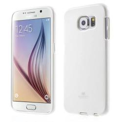 MERCURY szilikon védő tok / hátlap - FEHÉR - SAMSUNG SM-G920 Galaxy S6 - GYÁRI