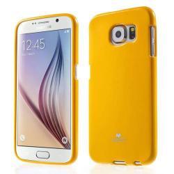 MERCURY szilikon védő tok / hátlap - SÁRGA - SAMSUNG SM-G920 Galaxy S6 - GYÁRI
