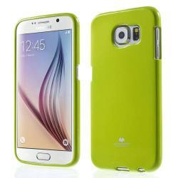 MERCURY szilikon védő tok / hátlap - ZÖLD - SAMSUNG SM-G920 Galaxy S6 - GYÁRI