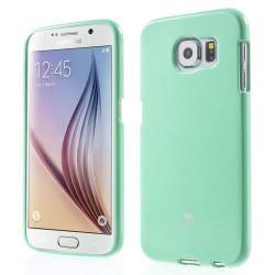 MERCURY szilikon védő tok / hátlap - CYAN KÉK - SAMSUNG SM-G920 Galaxy S6 - GYÁRI