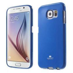 MERCURY szilikon védő tok / hátlap - SÖTÉTKÉK - SAMSUNG SM-G920 Galaxy S6 - GYÁRI