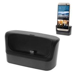 Asztali töltő / dokkoló - USB OTG funkciós - FEKETE - HTC One M9 (Hima)
