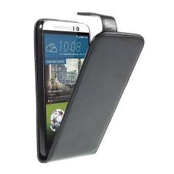 Flip tok - lefelé nyíló, rejtett mágneses záródás - FEKETE - HTC One M9 (Hima)
