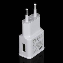 SAMSUNG hálózati töltõ USB aljzattal - ETA0U80 - adatkábel NÉLKÜL! - 5V / 1000mAh - GYÁRI - Csomagolás nélküli