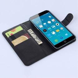 WALLET notesz tok / flip tok - FEKETE - asztali tartó funkciós, oldalra nyíló, rejtett mágneses záródás, bankkártyatartó zseb - MEIZU M1 note