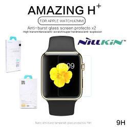 NILLKIN előlap védő karcálló edzett üveg - 2db, 9H+ - Apple Watch 42mm - GYÁRI