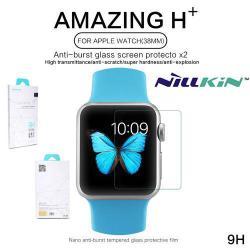 NILLKIN előlap védő karcálló edzett üveg - 2db, 9H+ - Apple Watch 38mm - GYÁRI