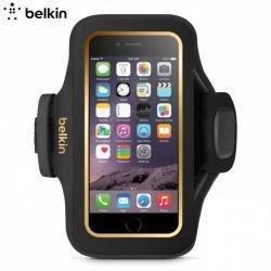 BELKIN SLIMFIT PLUS sport karpánt - F8W634BTC00 - FEKETE / ARANY - APPLE iPhone 6 - GYÁRI
